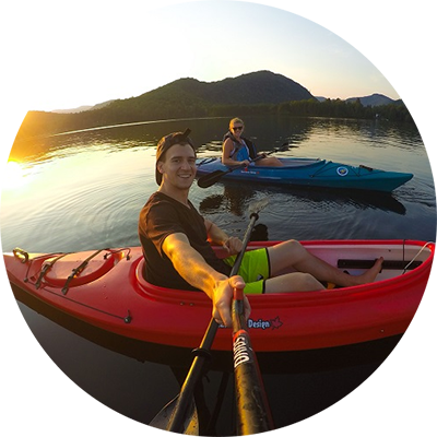 Marc Bjerring captures sunset near Mont Tremblant while kayaking with fellow uOttawa graduate Steffanie Senechal.