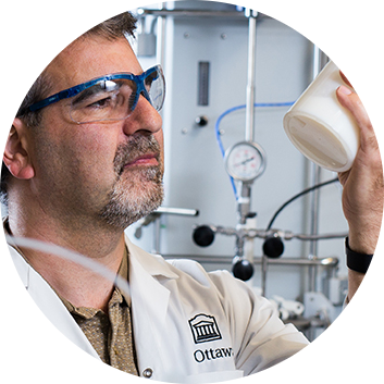 Proffessor Marc Dubé seeks to produce polymers