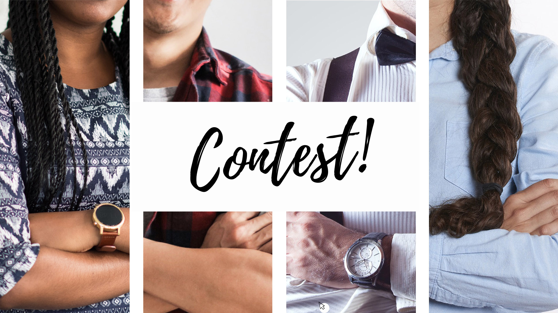 Image of different people for a contest