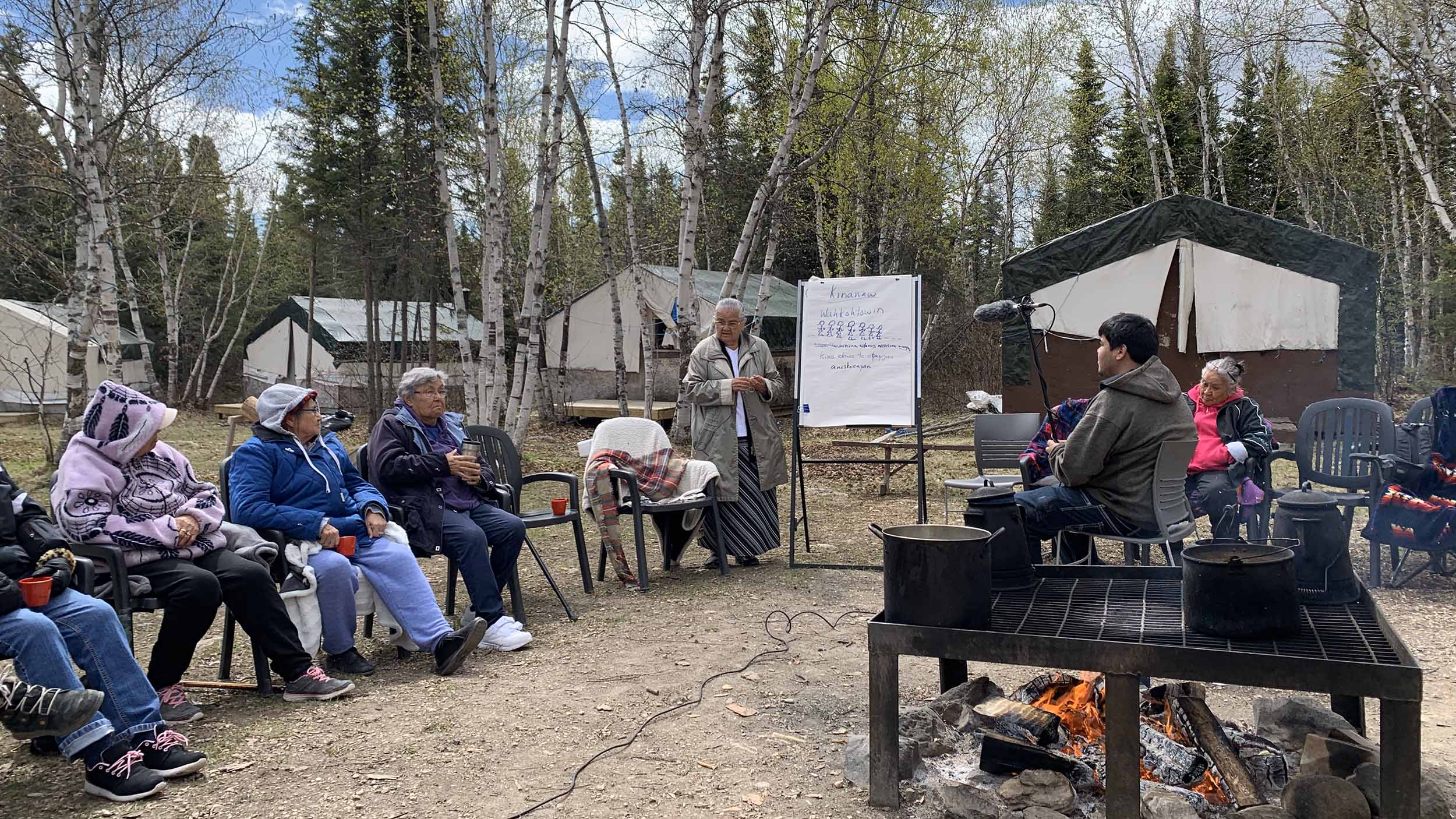 Gathering at Misipawistik Cree Nation