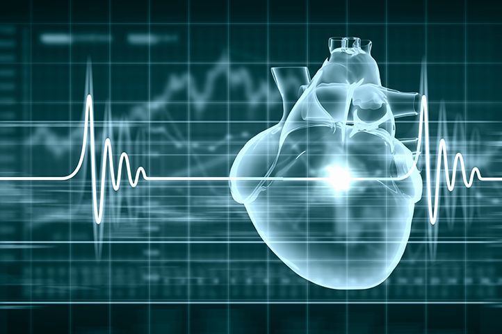 Image of heart and heart beat line