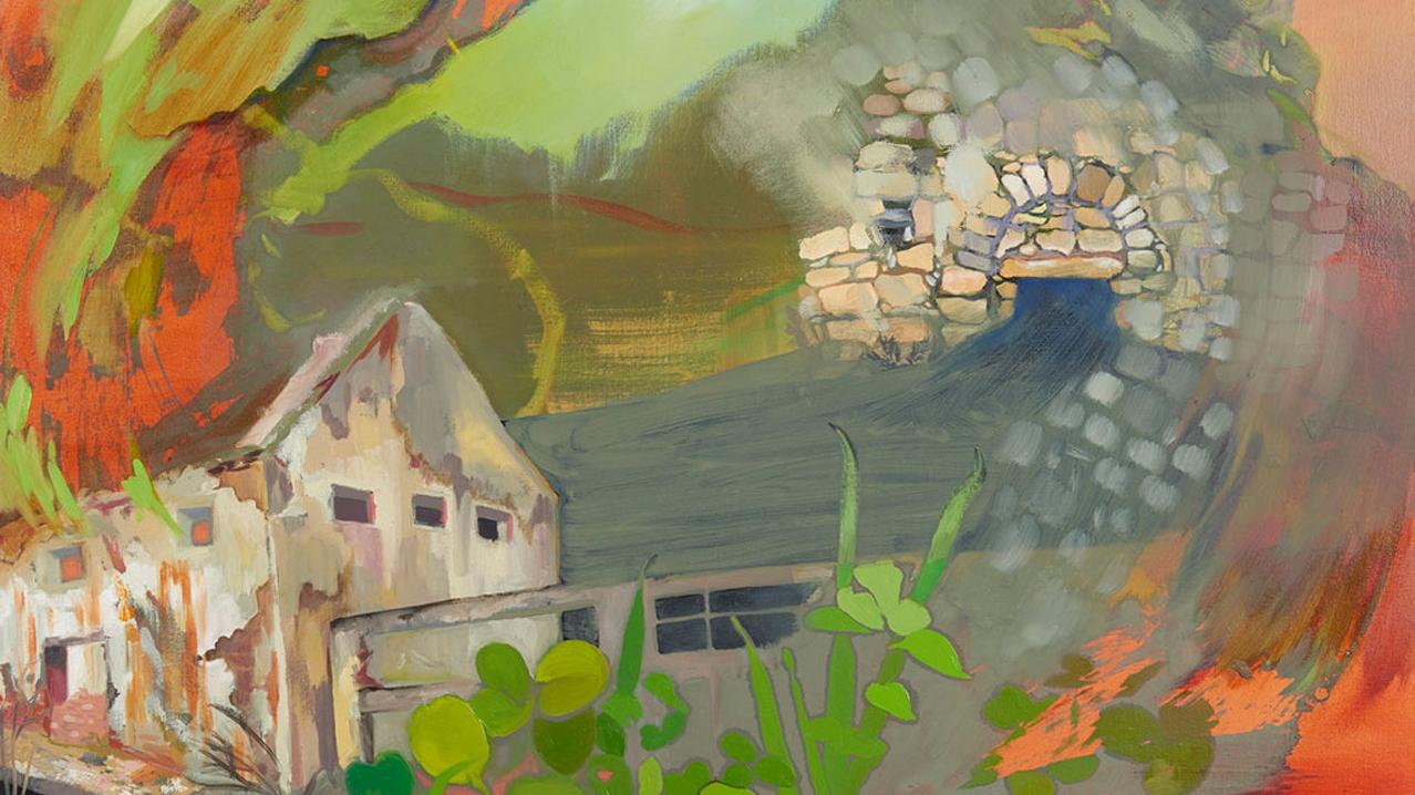"Nic Cooper -- Memories of Home, oil on canvas, 36"" x 36"", 2018 winner"
