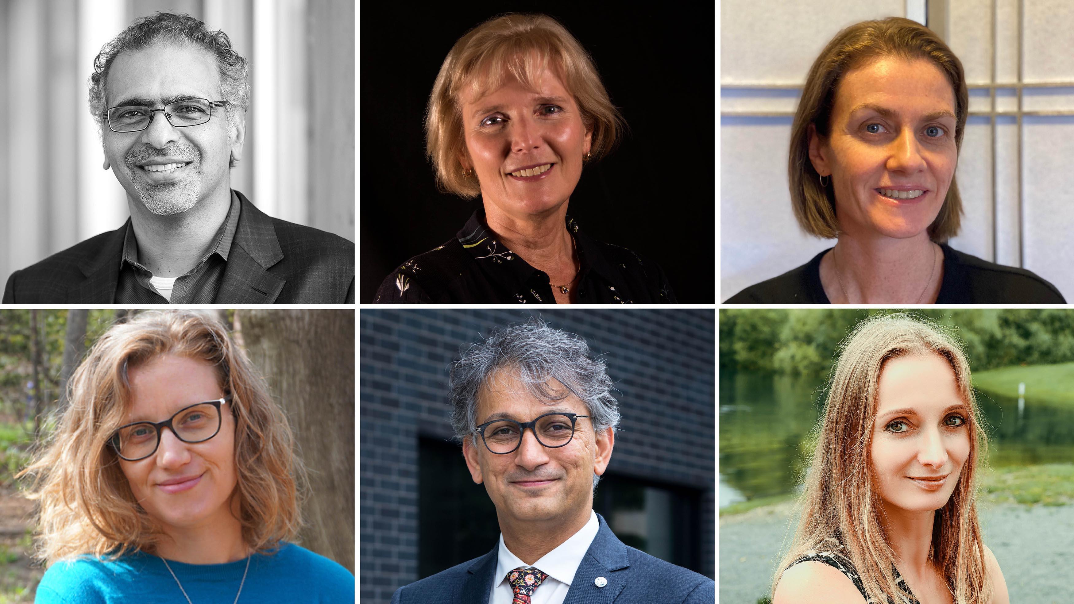 Six uOttawa professors: Khaled El Emam, Rita Horvath, Carole Yauk, Emmanuelle Bernheim, Ebrahim Karimi and Ksenia Dolgaleva