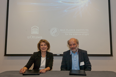 Members of the University of Ottawa and the Max Planck Institute for the Science of Light