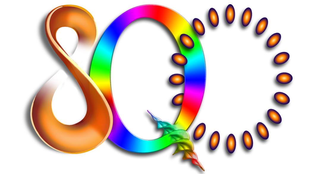 Dessins colorés des lettres S, Q et O