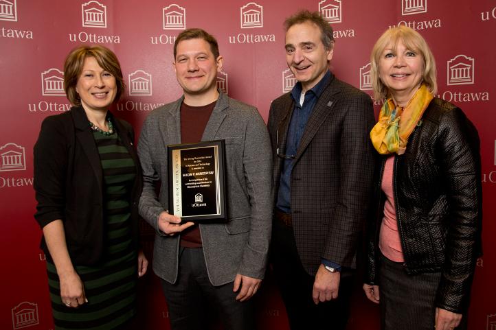 Prof. Maxim Berezovski- gagnant du Prix jeune chercheur de l'année 2015 - Prof. Maxim Berezovski - winner of teh Young Researcher of the Year Award