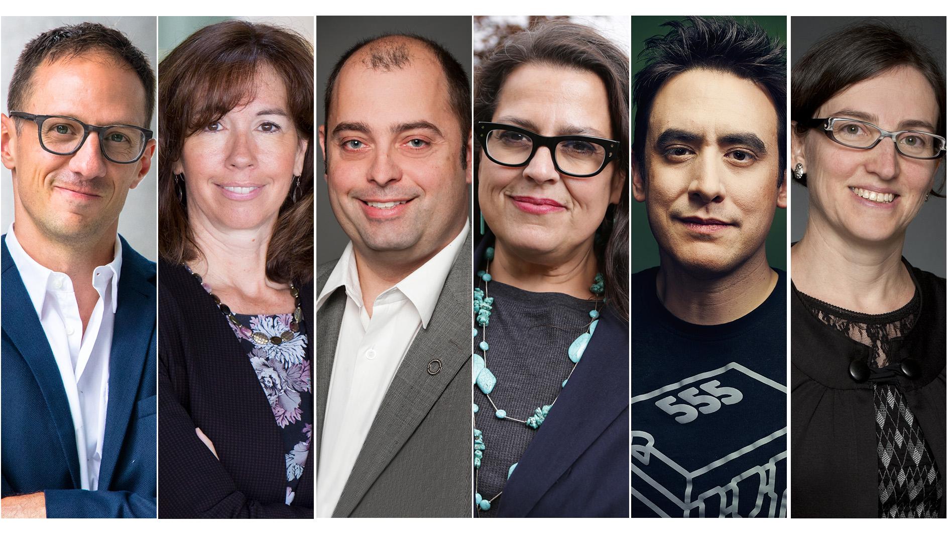 Pascal Audet, Nathalie Chalifour, Marc-André Langlois, Lindsey Lindberg, Andrew Pelling et Marie-Ève Sylvestre